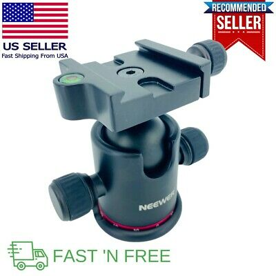 """Neewer Panoramic Tripod Ball Head For 1/4"""" Quick Shoe Plate + X/Y Bubble Level"""