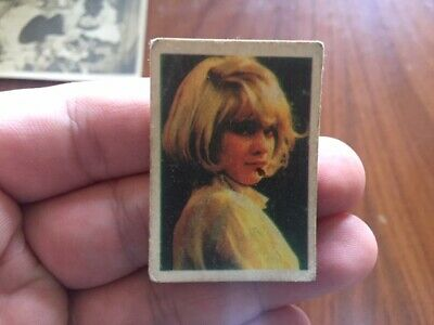SYLVIE VARTAN tiny chewing gum COLLECTIBLE CARD from MIDDLE EAST 1960s