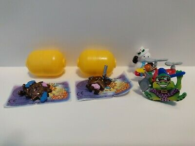 Vtg Kinder Ferrero Surprise Sole Moon Stars + Cake Toppers Map Frog Duck Snowman