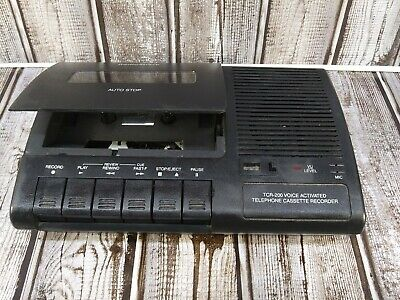 TCR-200 Voice Activated Telephone Cassette Tape Recorder Working Recorder Only