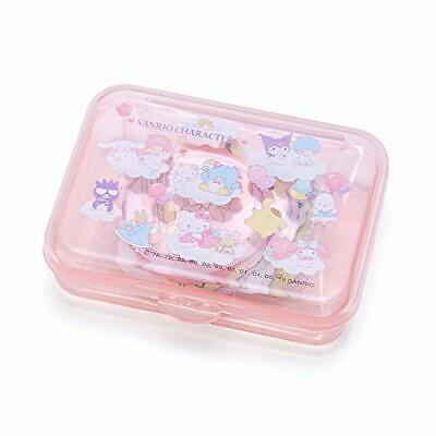 Sanrio Characters Mix Sticker & Mini Case : Pink