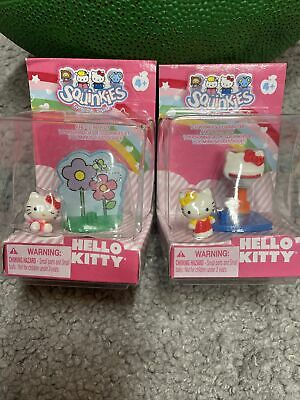Blip Toys2Squinkies Tiny Basketball Hello Kitty & 2 Green Planet Flower Stickers