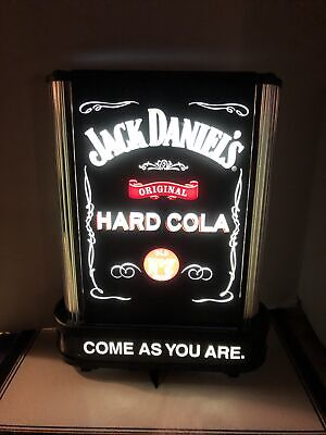 2002 JACK DANIELS Hard Cola COME AS YOU ARE Lighted Sign 10ft Cord Works Great