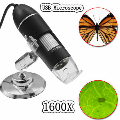 1600X USB Digital Microscope W// Stand for Electronic Accessories Coin Inspection
