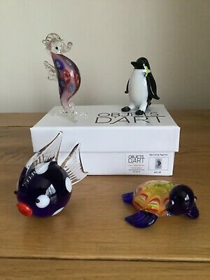 Penguin Objets D/'art Glass Ornament Kaola Duck Collectable Miniatures Boxed
