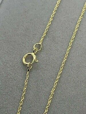 Christmas present Rope 9ct Gold Prince Of Wales Chain 18.0 inches EDWARD /& CO