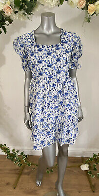 Influence Smock Dress Size 8 /& 12 Check Flannel Brushed Cotton Blue New GE80