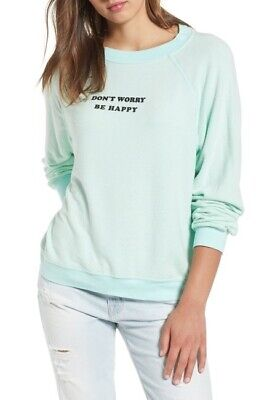 Color Szs Wildfox Couture Women/'s Solid Baggy Sweatshirt Pink XS /& S