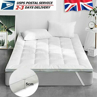 Luxury Microfiber 5cm /&10cm /& 3D Thick Soft Mattress Topper Single Double King