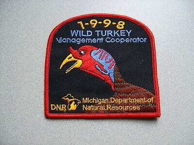 1998 MICHIGAN SUCCESSFUL DNR BEAR HUNTING PATCH***AUTHENTIC***