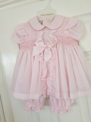 BABY LAI Baby Girl White and Pink Summer Top and Matching Panties Set