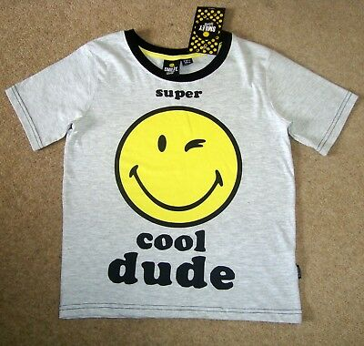 Boy/'s SMILEY WORLD Official hoodie sweat shirt 9-10 BNWT wink