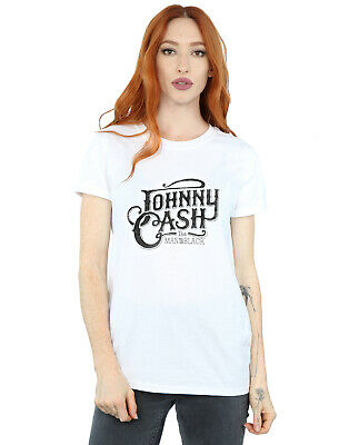 Johnny Cash /'The Man In Black/' NEW /& OFFICIAL! Grey Womens Burnout T-Shirt