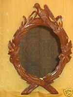 Antique Walnut Carved Picture Portrait Mirror Frame