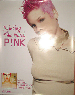 PINK Can't Take Me Home, Arista promotional poster, 2000, 17x22, EX!