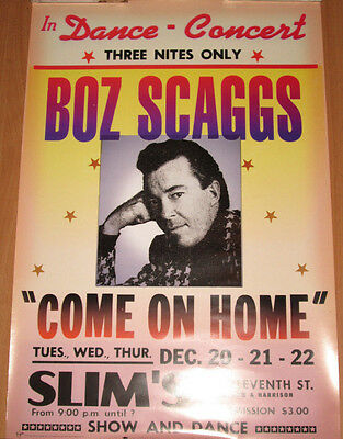 BOZ SCAGGS Come On Home, original Virgin promotional poster, 1997, 16x24, EX!