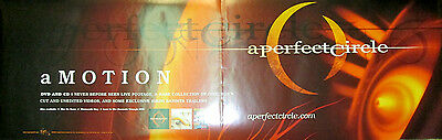 A PERFECT CIRCLE Amotion/Emotive, Virgin 2-sided promo poster, 2004, 12x26, EX