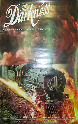 THE DARKNESS One Way Ticket to Hell, Atlantic promotional poster, 2005, 11x17,EX