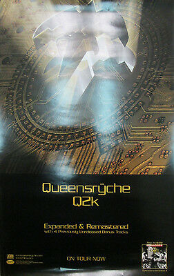 """QUEENSRYCHE """"Q2K"""" promotional poster, 11x17, 2006"""