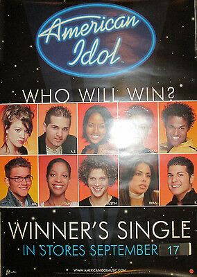 AMERICAN IDOL - RCA promotional poster, 2002, 17x20, Kelly Clarkson, Justin, EX