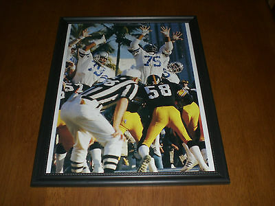 STEELERS vs COWBOYS FRAMED COLOR ACTION PRINT