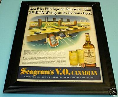 1943 Seagrams Vo Canadian Whiskey Framed Color Ad Print
