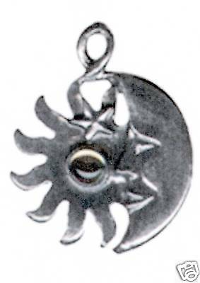 12 wholesale lead free pewter sun//moon pendants 3019
