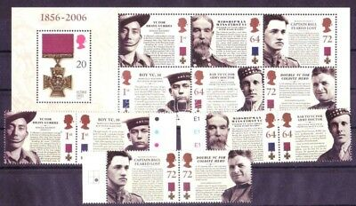 Great Britain stamp 2006 6v block Honours WS21890