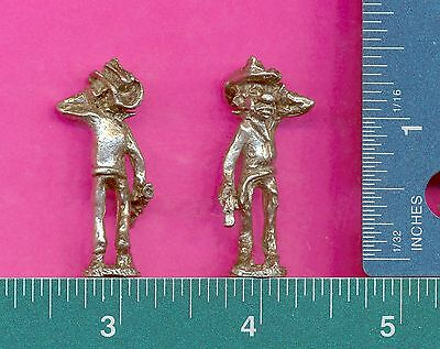 6 wholesale lead free pewter gun fighter figurines C3043