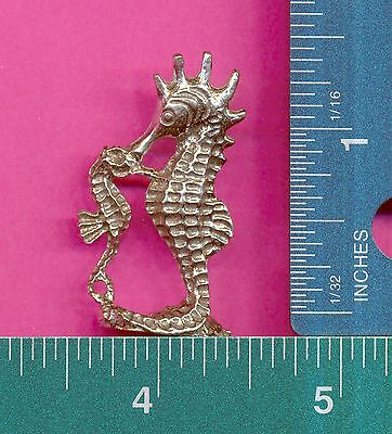 100 wholesale lead free pewter seahorse charms 1089