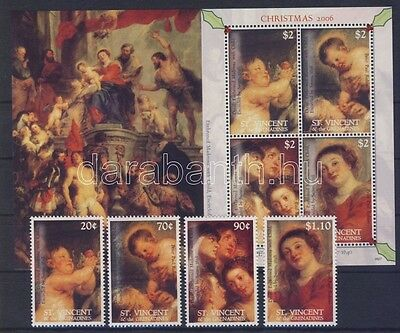 St. Vincent stamp 2006 Christmas Paintings  WS26983