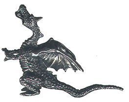 6 WHOLESALE LEAD free pewter dragon figurines D4006 - $26 37