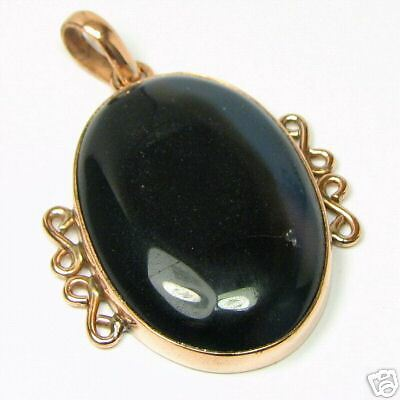 Pure Solid Copper African Agate Gemstone Pendant     AGN87