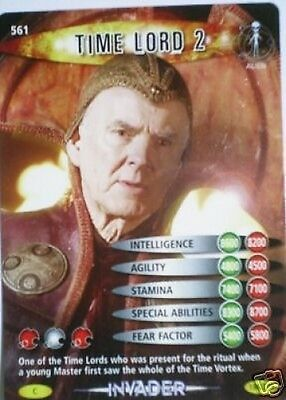 Dr Who Invader Card 561 Time Lord 2  - Mint !!