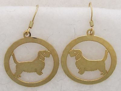 Petit Basset Griffon Vandeen Jewelry Gold Earrings