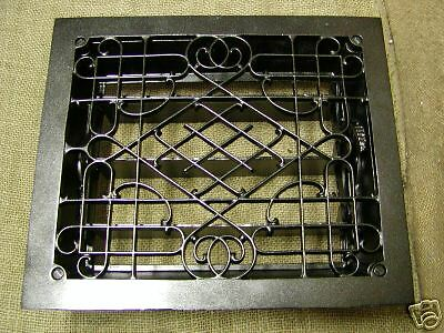 Vintage 1800's Cast Iron Register Grate Set Antique ^