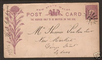 New South Wales H&G 6 used 1889 1p purple Post Card