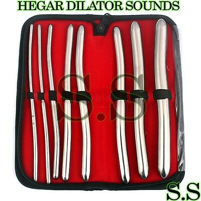 "8 Hegar Dilator Sounds Set 7.5""gyno Surgical Instruments"