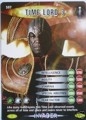 Dr Who Invader Card 597 Time Lord 3  - Mint !!