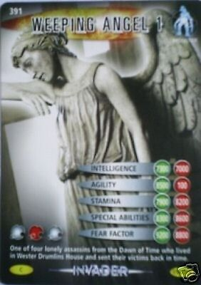 Dr Who Invader Card 391 Weeping Angel 1 - Mint !!