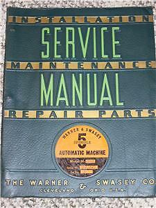 Vintage Warner 5 Spindle Machine Repair Parts Manual