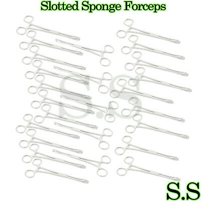 25 Slotted Sponge Forceps Body PIERCING INSTRUMENTS