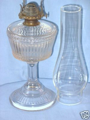 DUNCAN RIBBED BAND GLASS KEROSENE OIL LAMP 1 PIECE 1893