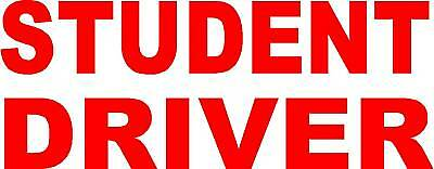 STUDENT DRIVER MAGNETIC SIGN  8x18""