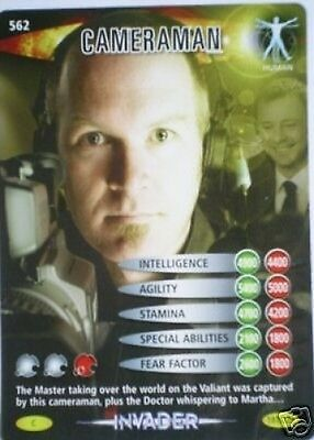 Dr Who Invader Card 562 Cameraman  - Mint !!