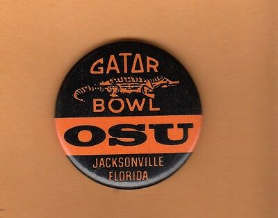 1978 OHIO STATE BUCKEYES GATOR BOWL PIN BACK BUTTON UNSOLD STOCK