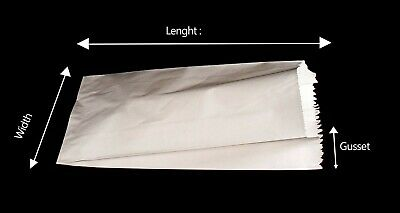"500 White Kraft 14x3x21"" Paper Retail Merchandise Bags Grocery Shipping Bag"