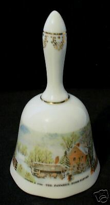 1978 American Treasury Currier & Ives Farmers Home Bell
