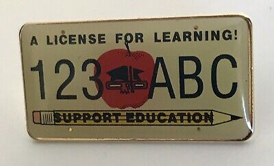 """""""A LICENSE FOR LEARNING!"""" Pins, New! Lot of 25, NIB"""