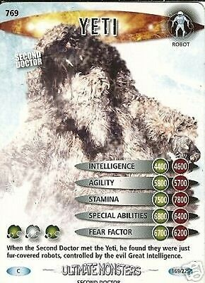 Dr Who Ultimate Monsters 769 Yeti